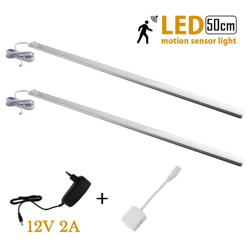 2pcs/lot 50cm 12V LED PIR infrared Motion Sensor light