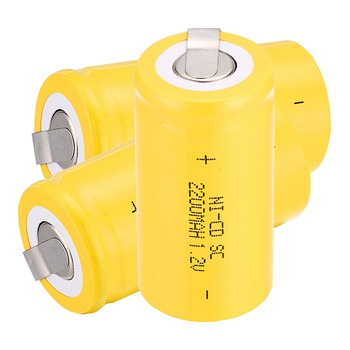 High quality !19 pcs Sub C SC battery 1.2V 2200 mAh Ni-Cd NiCd Rechargeable Battery 4.25CM*2.2CM
