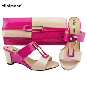 Image 2 - New Shop 40% Discount 2018 New Arrival Ladies Nigerian Shoes and Matching Bags Hot Sales Women Fashion Wedges Mix Color