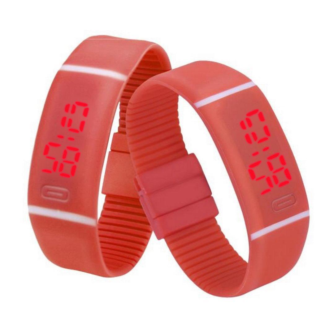 Digitale Uhren Herrenuhren GemäßIgt Fanala Sport Uhr Frauen Männer Gummi Led Digital Uhr Datum Armband Handgelenk Uhren Relogio Masculino Relogio Feminino