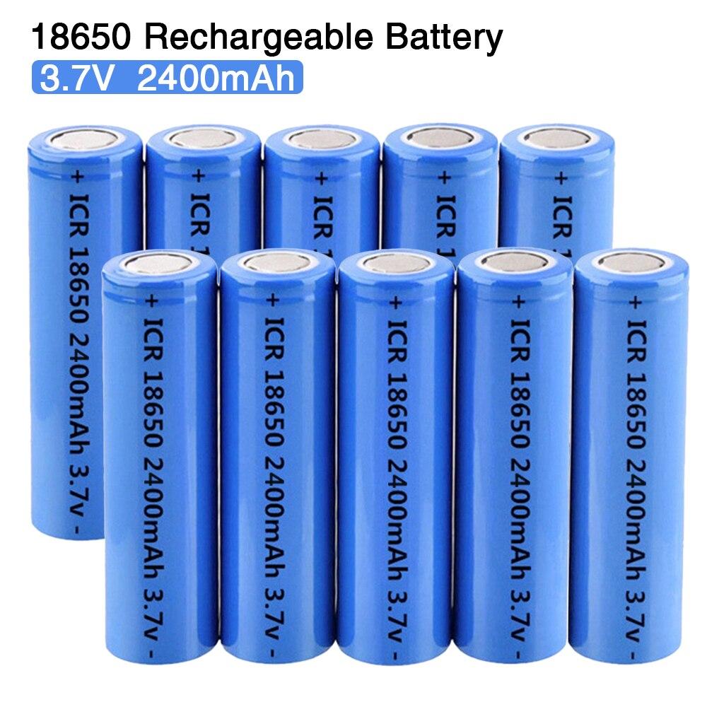 ICR18650 3.7 В 2400 мАч Перезаряжаемые Батарея литиевые батареи li-ion Bateria для светодиодный фонарик факел Фара