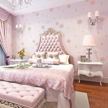 Modern Rustic Girls Wall Papers Home Decor 3D Dandelion Non woven Wallpaper Warm Rural Living Room Bedroom papel de parede