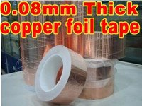 1 Roll 25mm*30 meters *0.08mm Thickness Single Sided Adhesive Conductive Copper Foil Tape, Electromagnetic Interference Shield