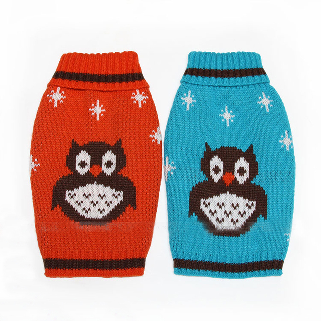 f4524f1dc Free Shipping Cute OWL Snowflake Puppy Pet Cat Dog Knit Crochet ...