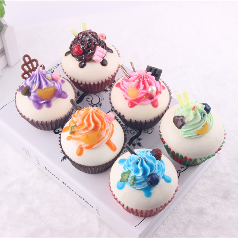 Cute Hard Ice Cream Fruit Cup Cake Food Simulation Kid Toys Collectibles