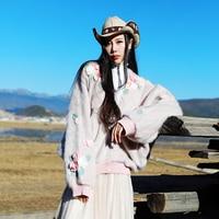 MD031 Custom Made New Arrival Autumn 2016 Women Cute Sweater Coat Racoon Fur Sleeve Loose Long