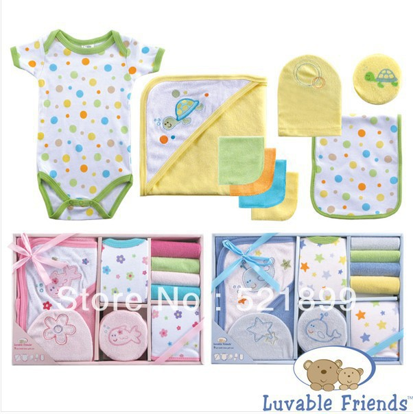 Luvable Friends New 2017 9 Pieces Baby Bath Set Towel Baby Care ...