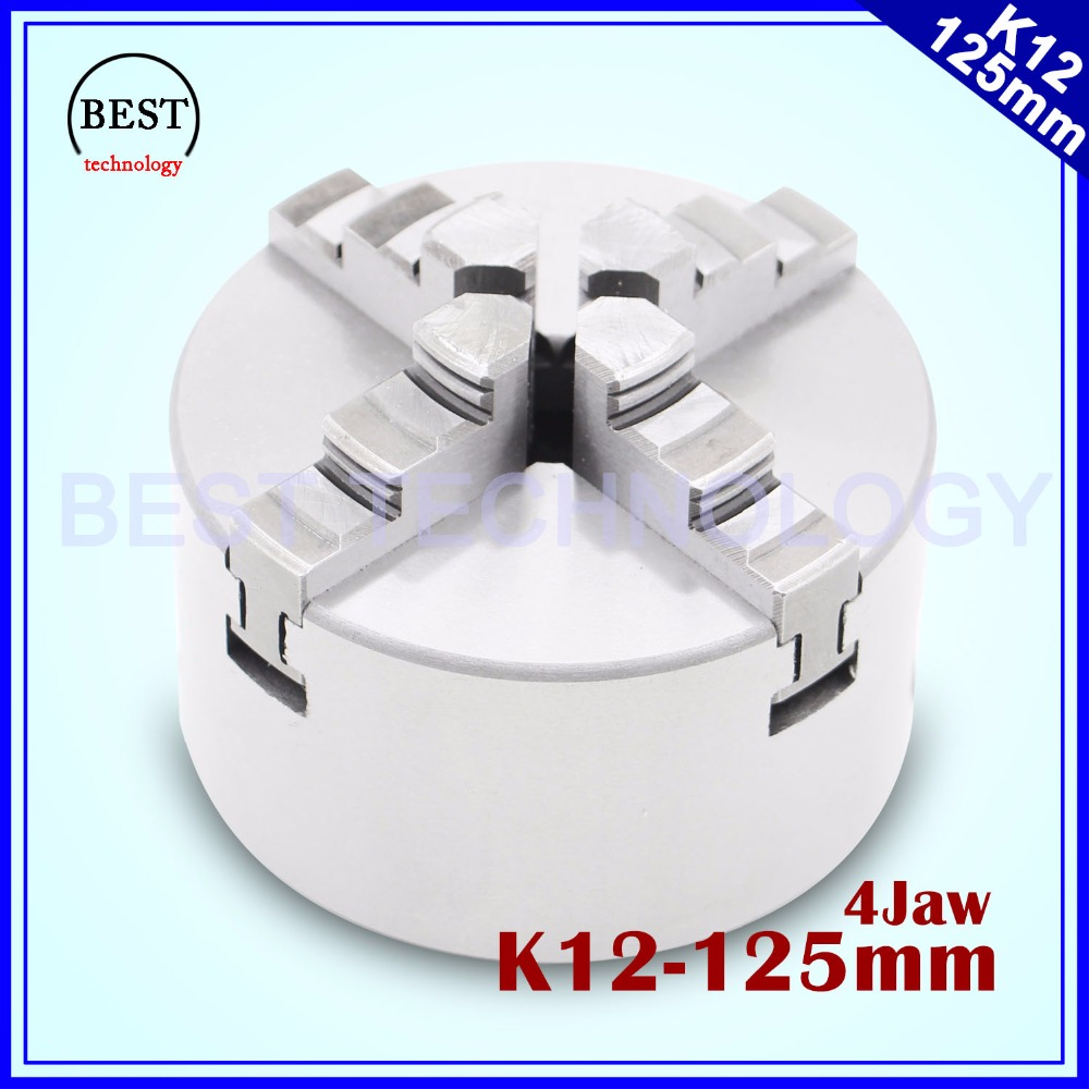 125mm 4 jaw Chuck self centering manual chuck four jaw K12 125mm for CNC Engraving Milling