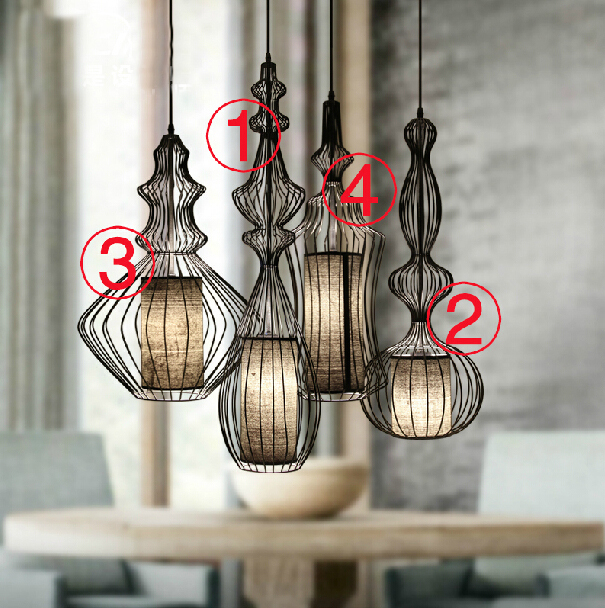 Showcase Hotel Bar Retro Aristocrat Magnates Iron Birdcage Pendant Light the birdcage