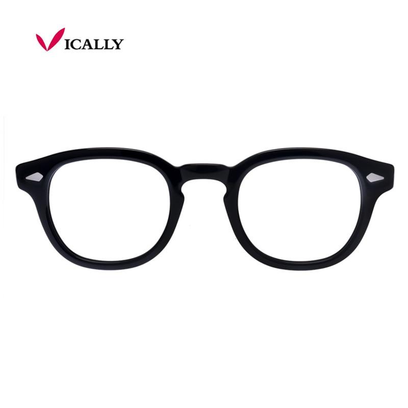Parte Superiore di modo di Vetro del Telaio Uomini Donne Retro Vintage  Optical Occhiali Da Vista Occhiali Miopi Montatura per occhiali Rotondi  Oculos de ... ab57e99657