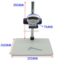 Standard Size Up And Down Adjustable Binocular Stereo Microscope Laboratory Instrument Test Stand Industrial Camera Holder 76MM