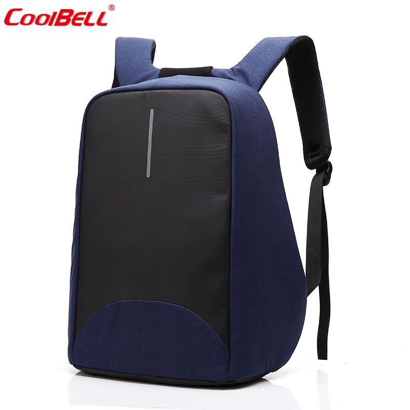 ФОТО Nylon Anti Theft Backpack Multifunction 15inch Computer Bag School Back pack Laptop USB Charging Backpack for Teenager 8001