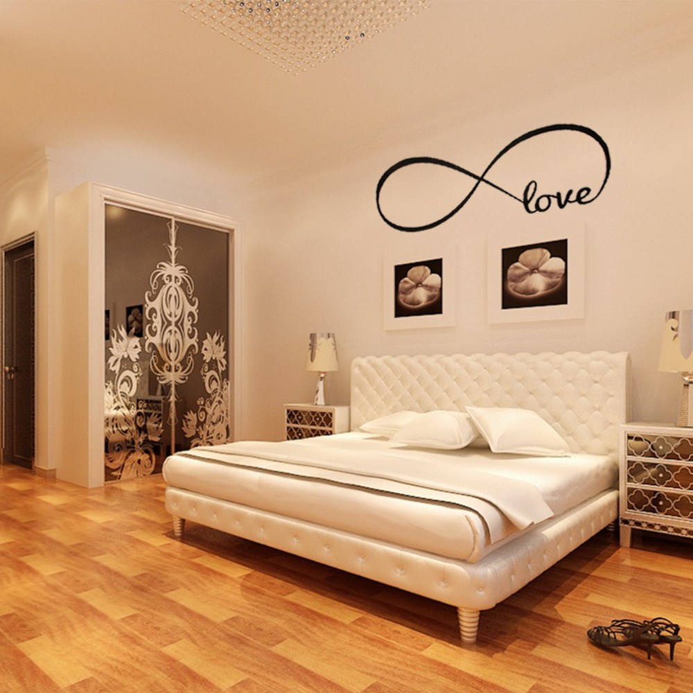 Personalized Infinity Symbol LOVE Bedroom Wall Decal Words Vinyl Wedding  Decorative Wall Stickers Quote Decal Popular Hot In Wall Stickers From Home  ...