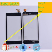 For Wiko Jerry 2 Jerry2 Touch Screen Panel Sensor Digitizer Front Outer Glass Touchscreen Jerry 2 Touch Panel Replacement 5.0