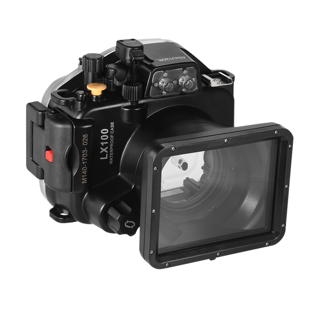 Black Camera Waterproof Housings Diving Protective Camera Case Cover Underwater 40m 130ft for Lumix LX100