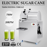750W Automatic Electric Sugarcane Juicer Stainless Steel Sweet Press Juicer 220V