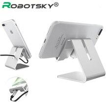 Вращающийся держатель для телефона из алюминиевого сплава для iphone X для samsung, держатель для планшета, подставка, кронштейн, Регулируемый Настольный держатель