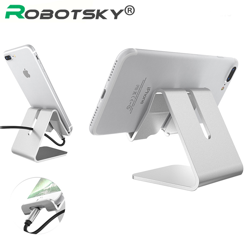 Aluminum Alloy Rotatable Phone Holder for iphone X for Samsung Tablet Holder Stand Mount Support Bracket Adjustable Table Holder