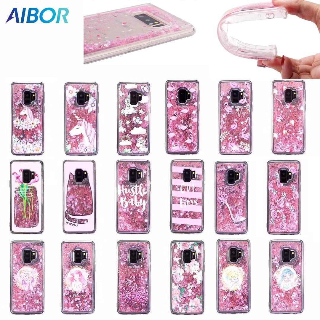 Dynamic Liquid Bling Quicksand flower flamingo unicorn princess case for Samsung GALAXY A3 A5 A8 J2Prime J3 J5 J7 J1 2016/2017/8