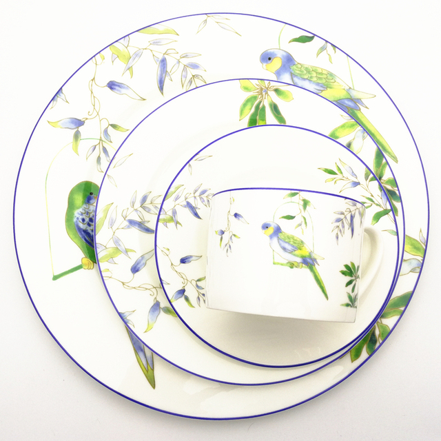8Inch And 11Inch Porcelain Dinner Plate Edible Hand-painted Bird Dishes Ceramic Flat Dish Cartoon  sc 1 st  AliExpress.com & 8Inch And 11Inch Porcelain Dinner Plate Edible Hand painted Bird ...