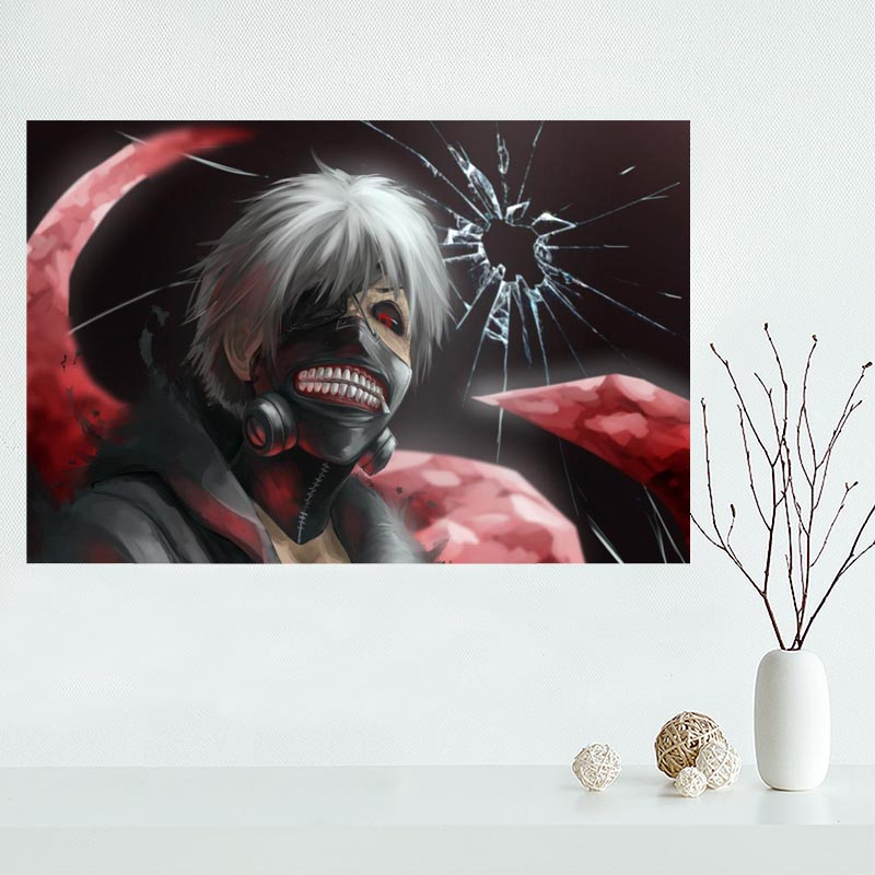 Nice Tokyo Ghoul Poster Custom Canvas Poster Art Home Decoration Cloth Fabric Wall Poster Print Silk Fabric