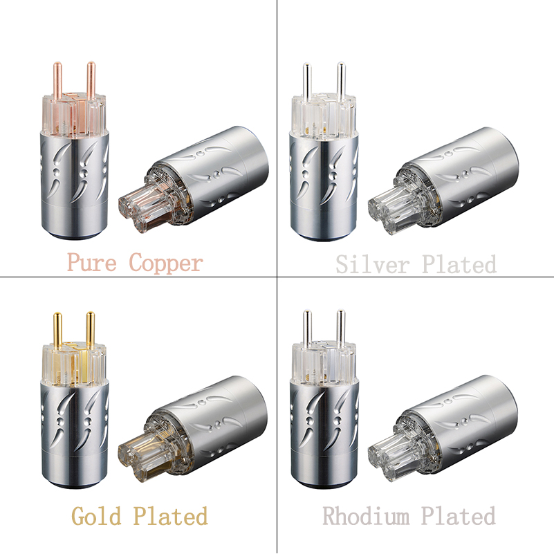 купить Viborg Hi End Schuko Plug Pure Copper Silver/Gold/Rhodium Plated Available VE512 VF512 Audio Power Plug IEC Connectors по цене 5767.63 рублей