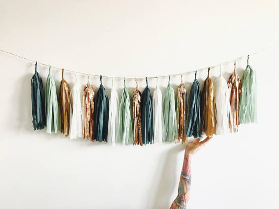 Gold And Copper : Aliexpress buy ft of tassels sage green rose gold and