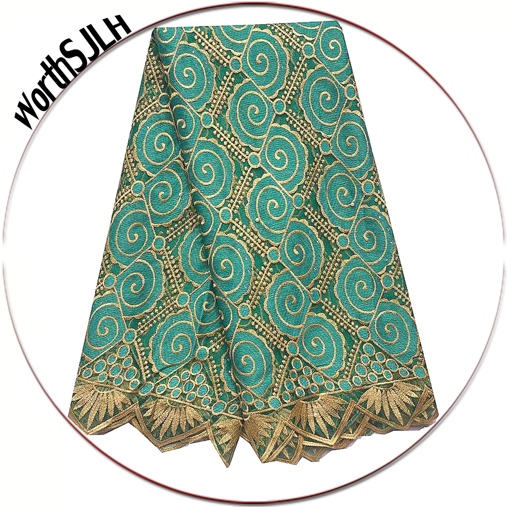 WorthSJLH Beaded African Lace Fabric 2019 Teal Blue Dubai Mesh Laces Material French Net Cord Lace