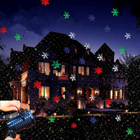 US/UK/EU Xmas Outdoor LED Star Snowflake Projector Light Green Lamp Christmas Holloween Garden Stage Lighting Effect Decoration