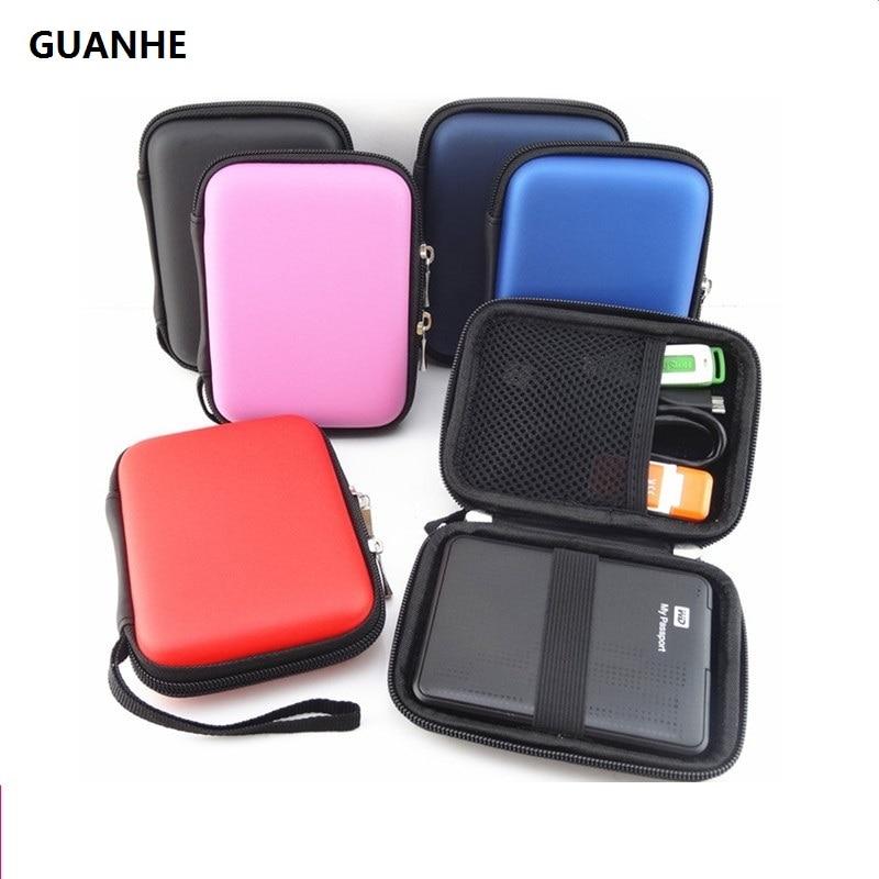 GUANHE 하드 디스크 드라이브 외장 하드 드라이브 파우치 백 덮개 보호대 검정색 외장형 WD seagate HDD 하드 디스크 드라이브