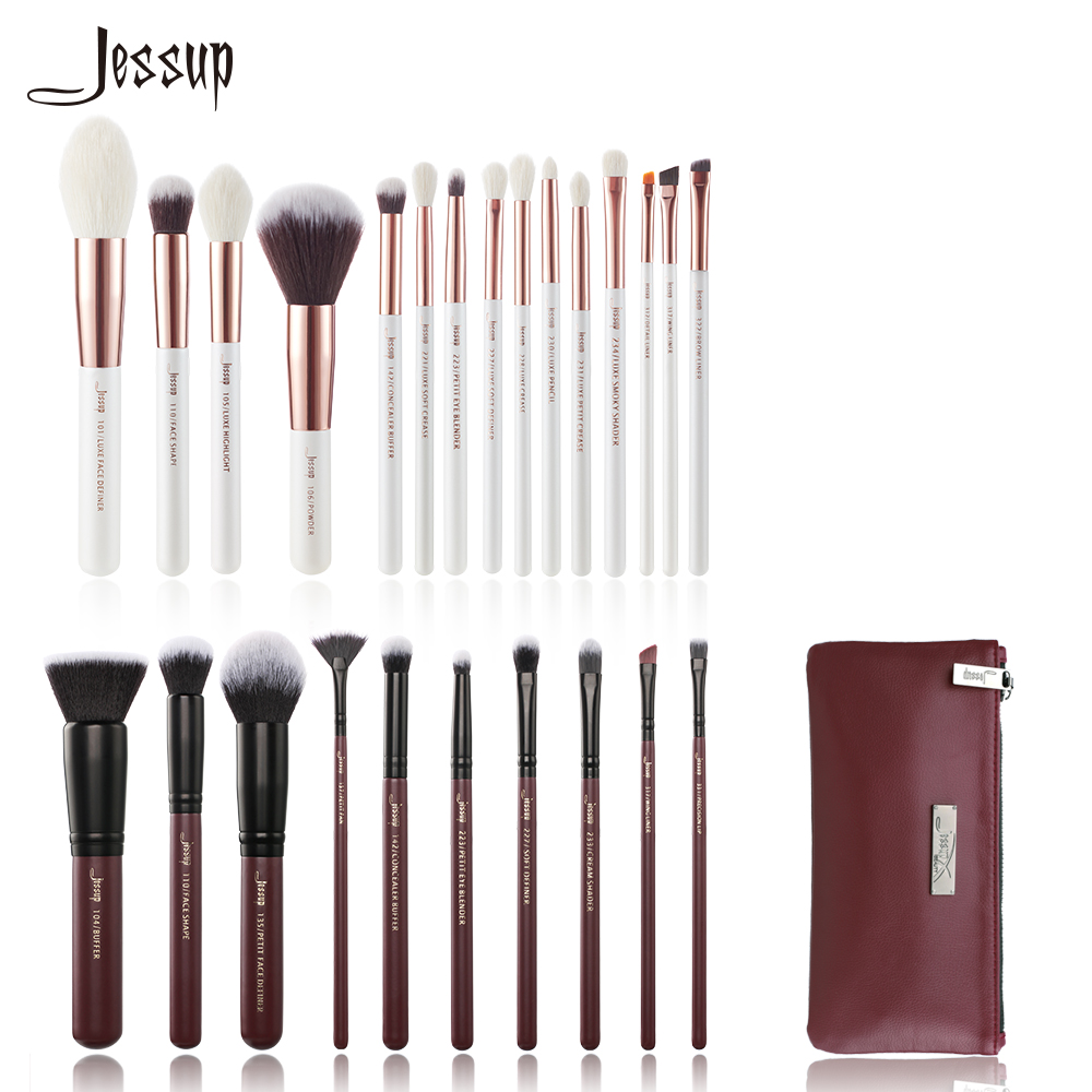 Jessup Makeup brushes kit Beauty tools Make up Brush & 1PC Cosmetic bag women CB004 Foundation Powder jessup brand pro makeup brushes set beauty make up cosmetics brush tools kit powder 02 cream foundation wool hair acrylic handle