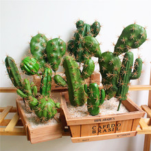Greenery Cactus Artificial Garden Ornaments Home Balcony Decorations DIY Fake Office Garden Wedding Decorative Plant Faux Plants