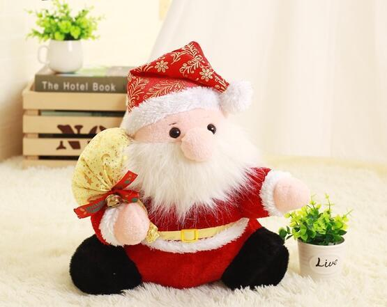 soft plush toy 40cm Santa Claus Christmas Decorations for Home Decoration 16inch New year decoration gift for kids free shipping