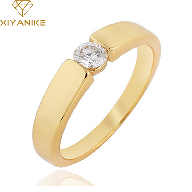 High Quality Lovers Engagement Ring Classic Tension Rose