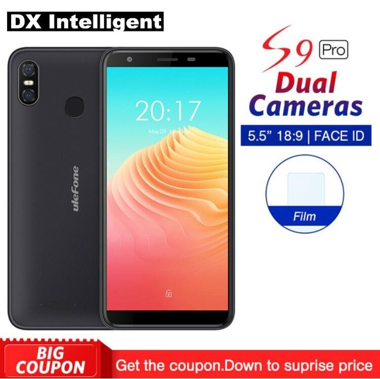 Ulefone S9 PRO Face Unlock Téléphone Portable MTK6739 Quad-Core 5.5 HD + 18:9 Plein Écran 2 gb + 16 gb Android 8.1 13MP Double Retour Caméra GPS