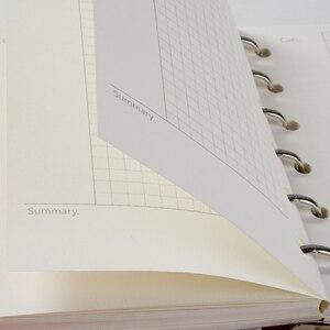 A7 блокнот со свободным листом, Заправляемый спиральным переплетением, планировщик, внутренняя страница, внутри бумажная молочная еженедел...