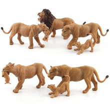 Vahşi Simülasyon Aslan Hayvan modelleri Oyuncak plastik Dişi Aslan Hayvan figürleri ev dekor Çocuklar Için Hediye heykelcik bebekler Yatak Odası Dekorasyon