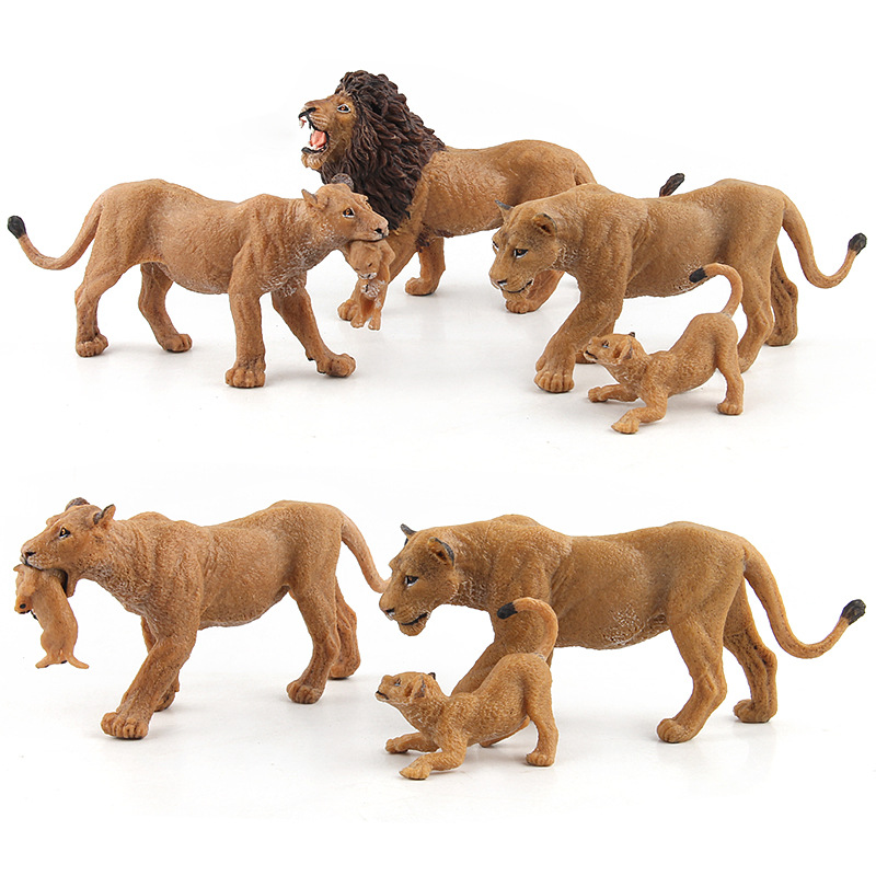 Wild Simulation Lion Animal models Toy plastic Lioness Animal figures home decor Gift For Kids figurine dolls Bedroom Decoration
