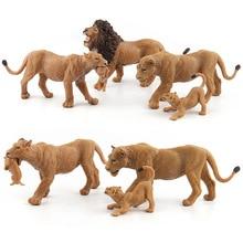 Wild סימולציה האריה בעלי החיים מודלים צעצוע פלסטיק לביאה בעלי החיים דמויות בית תפאורה מתנה לילדים פסלון בובות שינה קישוט