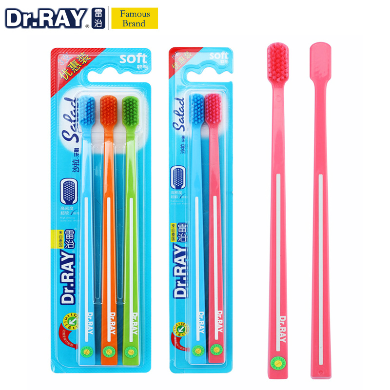 Dr.Ray Toothbrush ECO toothbrush 0.01mm Super Soft Toothbrush Bristle Small Head Environmental Protection Travel Toothbrush Зубная щётка