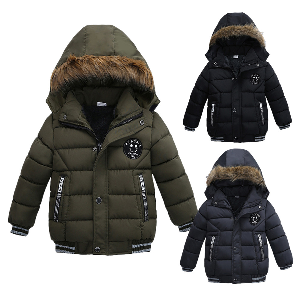 2019 new Fashion Kids Coat Boys Girls Thick Coat Padded Winter Jacket Clothes