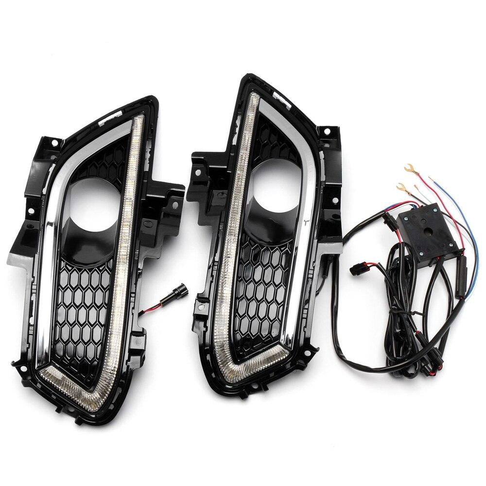 NOVSIGHT 2X LED Daytime Running Light DRL Driving Fog Lamp For JAGUAR MONDEO 2014-2017 D30 2x led drl driving daytime running day fog lamp light for ford mondeo 2011 2012 2013