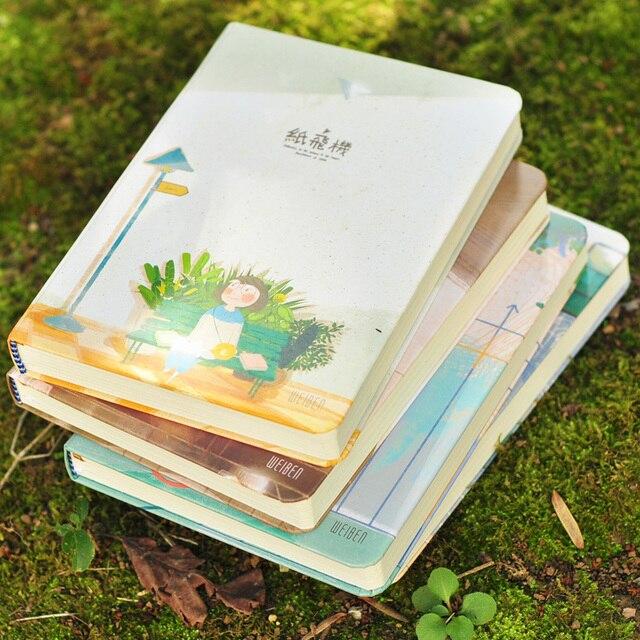 WEIBEN Papier Flugzeug Serie Notebook A5 Farbe Seiten Notiz ...