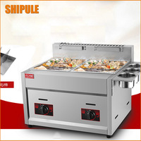 Hot sale potato chip gas fryer delicious fried chicken gas frying machine double cylinder deep fryer