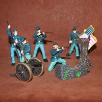 Simulation figures doll toy war usa soldiers military equipment scene Decoration 8pcs/set