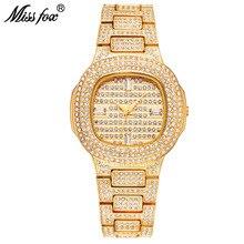 Relogio Feminino Miss Fox Women Watch Luxury Brand Fashion Waterproof Crystal Diamond Quartz Wristwatch Clock Gold Reloj Mujer цена и фото