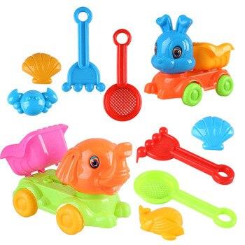 SLPF5 Piece Set Summer Parent-child Interactive Beach Toys Sand Model Kids Play House Outdoor Game Rabbit Rabbit Car Toy New N11 1