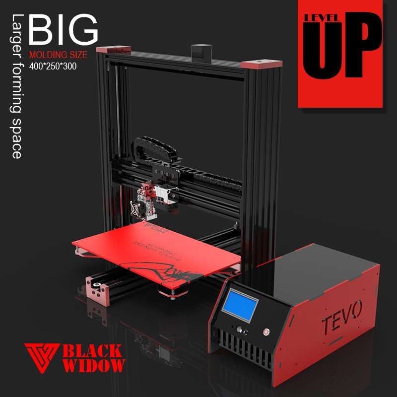 Newest and Hot Sale Tevo Black Widow 3D Printer Kit Open Source Large 3d printer impresora 3d diy kit Printing Machine