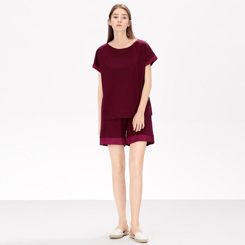Artizan Frauen Kurze Pyjamas Set Kurzarm Shirts Pyjama Sets 2-stück Nachtwäsche
