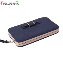 FGJLLOGJGSO 2018 Purse wallet female famous brand card holders cellphone pocket gifts for women money bag clutch Free shipping